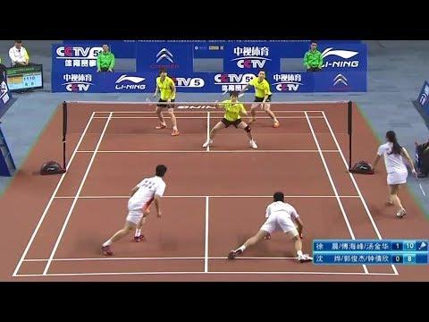 3 vs 3   Fu Haifeng/ Xu Chen/ Tang Jin Hua  vs Shen Ye/ Guo J J/ Zhong Qian Xin