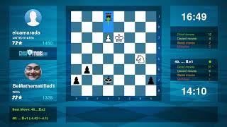 Chess Game Analysis: elcamarada - BeMathematified1 : 1-0 (By ChessFriends.com)