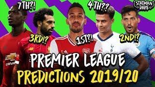 My 2019/20 Premier League Predictions | Champion, Top 4, Relegation & Top Scorer