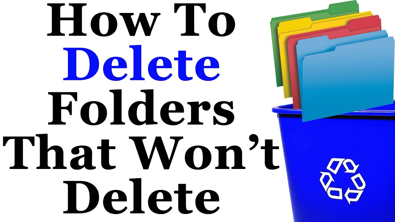 How to delete a folder that is not deleted Several ways 75