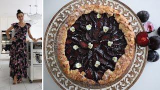 Plum Galette Recipe - Summertime Dessert - Heghineh Cooking Show