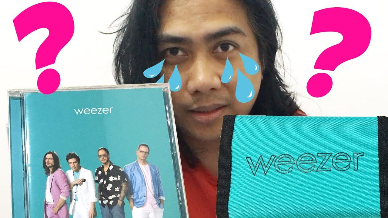DISAPPOINTED  WEEZER TEAL ALBUM & WALLET  WHERE'S THE SIGNED DOLLAR?