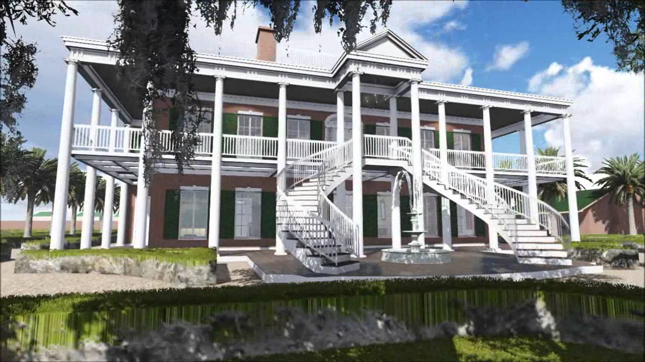 Plantation Colonial House 3d Flythrough Youtube