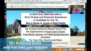 Real Estate Grants for Home Buyers/Investors With Income Up To $117,400/yr
