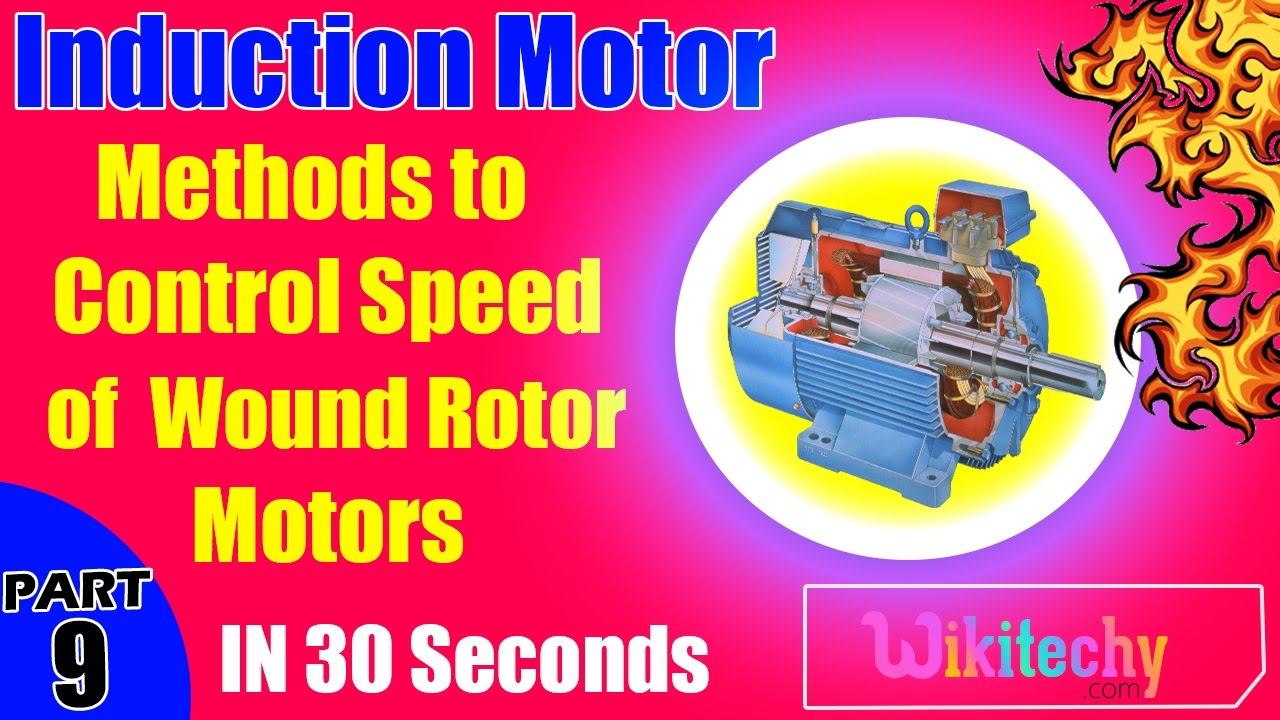 What are the methods to control speed of wound rotor for Ac motor speed control methods