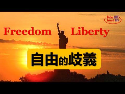 論美國即將失去的自由, 左派追逐Liberty,右派守護Freedom,人類的繁榮依賴哪種自由?Freedom和 Liberty的區別
