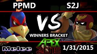 Apex 2015 - S2J (Captain Falcon) Vs. PPMD (Marth, Falco) - Winners Round 2 - SSBM