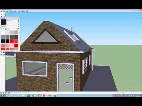 How to make a simple house in sketchup youtube for Minimalist house sketchup