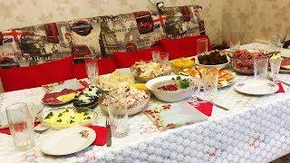 ПРАЗДНИЧНЫЙ Стол на День Рождения. Салаты, Закуски, Мясные блюда  Праздничное Меню, готовим дома