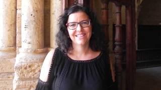 Elvira Guarás directora de la Coral Santa María la Real de Fitero durante 25 años