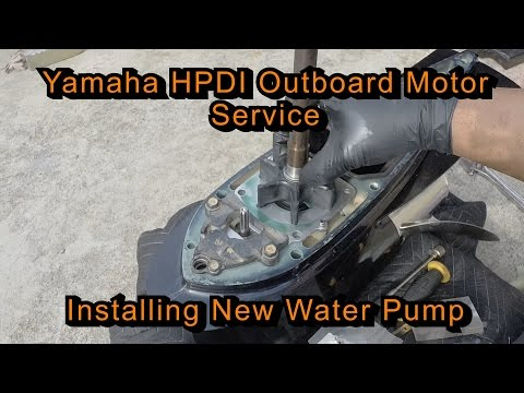 Yamaha HPDI Outboard Motor Service (Installing New Water Pump)
