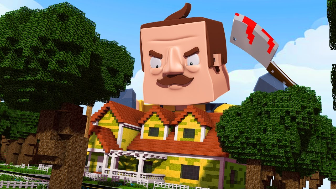 The hello neighbor house - Minecraft Hello Neighbor Stealing The Neighbors Stuff Alpha 3 Hello Neighbor In Minecraft Youtube