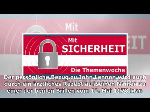 Nach verhaftung – berliner polizei zeigt lennons gestohlene brillen – haz – hannoversche allgemeine