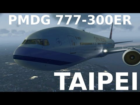 [FSX] 777-300ER TAIPEI Approach & Landing (+CHASE PLANE)