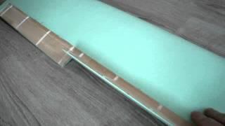 Самолет -крыло из потолочки и линеек, размах 1.8 метра.