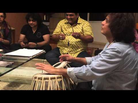 Asha Bhosle and Zakir Hussain ...jamming at home