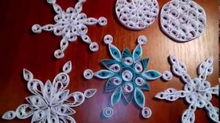 Новогодние снежинки в технике квиллинг. Мастер-класс для начинающих