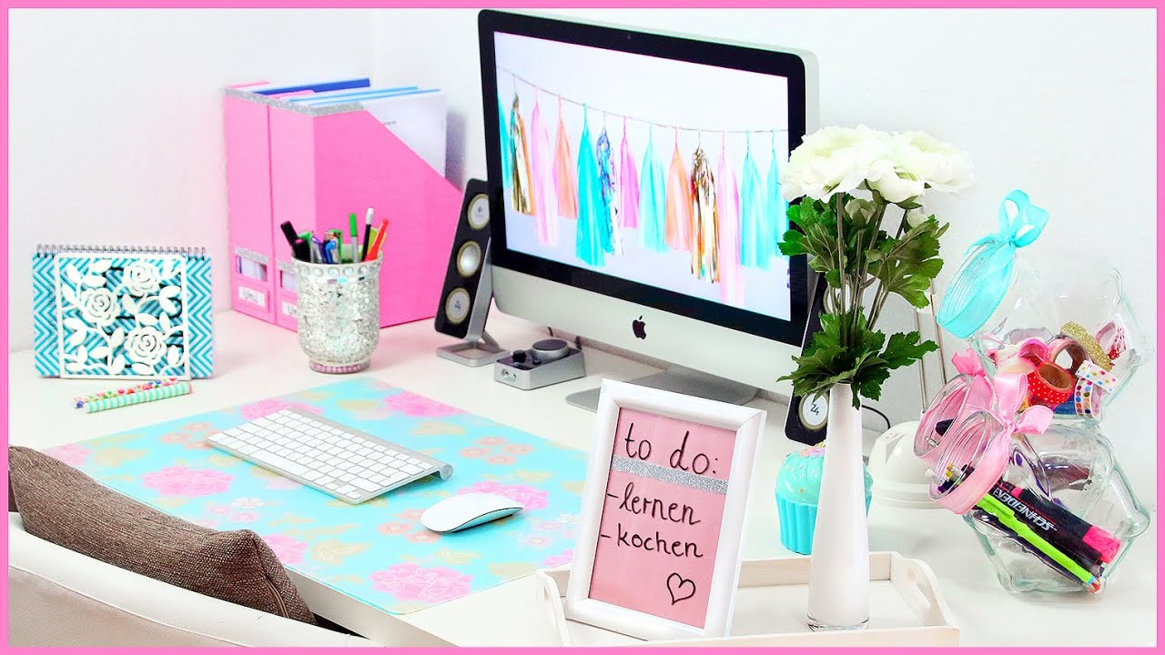 Diy desk makeover s e n tzliche organisation for Coole zimmerdeko