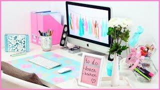 DIY Desk MAKEOVER - Süße & Nützliche Organisation & Dekoration für deinen Schreibtisch