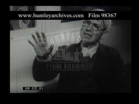 Spencer In Sandham Memorial Chapel, 1950s - Film 98367