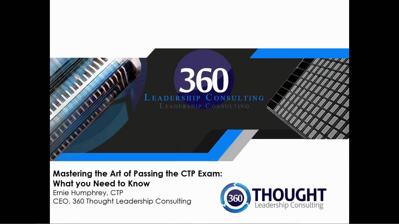 Mastering The Art Of Passing The Ctp Exam Youtube