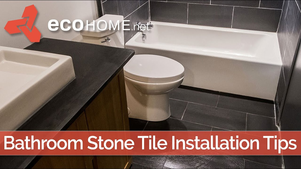 Slate Tile Installation In A Bathroom Natural Stone More Challenging But Beautiful Youtube