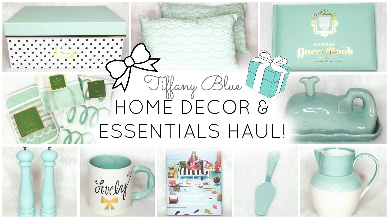 Tiffany Blue Aqua Home Decor Essentials Haul Homegoods Tj Maxx Kate Spade Lilly Pulitzer Youtube