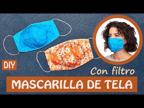 Cómo HACER 1 MASCARILLA De TELA O CUBREBOCAS  Con FILTRO |  (incluye Patrón Gratis)