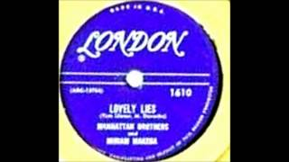 A Lovely Lies - Manhattan Brothers with Miriam Makeba -London  # 1610;-1956;.wmv