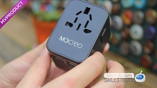 MOCREO Travel Plug Adapter 4-Port USB AC Travel Wall Charger - Black