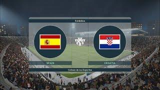 PES 2019 I SPAIN vs CROATIA I UEFA NATIONS LEAGUE I Gameplay