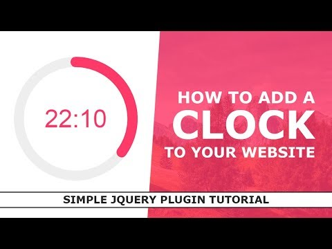 How To Display A Clock On Website - Simple JQuery Animated Clock - Plugin - RadialIndicator.js