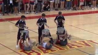 Batavia High School Drumline Pep Assembly 2015