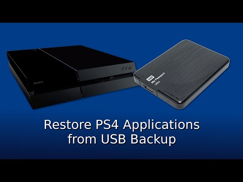 Restore PS4 Applications from a USB Hard Drive Backup