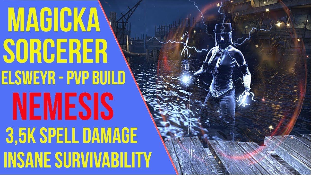 Magicka Sorcerer PVP Build ESO - ArzyeLBuilds