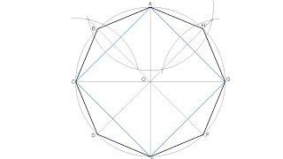 Octógono regular inscrito en una circunferencia