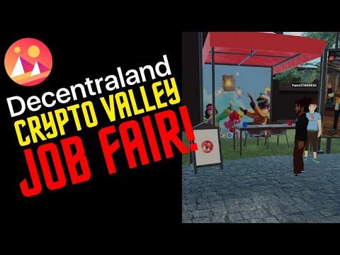 Decentraland // First Ever Crypto Valley Job Fair Walkthrough in Decentraland!