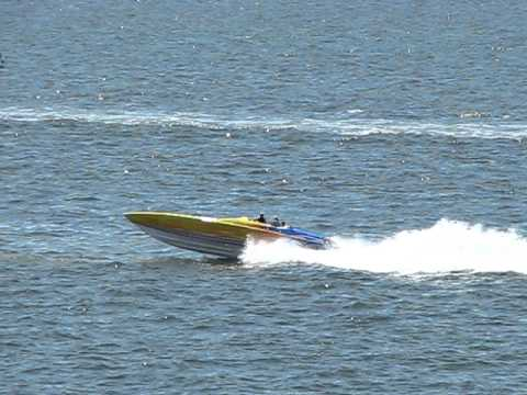 Powerboat Zooming Through Tampa Bay - Festivals of Speed, St. Petersburg, Florida