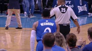 Russell Westbrook Throws the Lob and Shows the Fans Some Love | 12.25.16