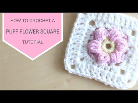 Crochet Puff Flower Square Bella Coco Youtube