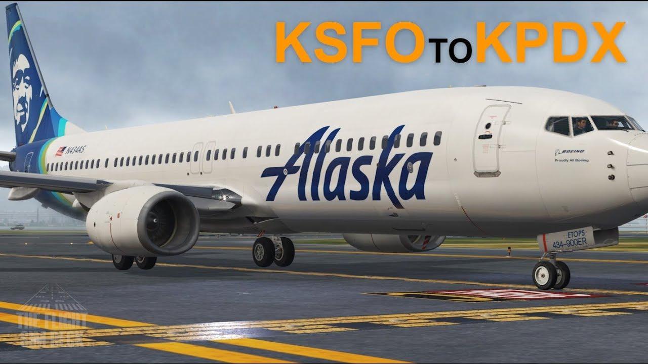 X-Plane 11   Floating Into Portland KSFO to KPDX   737-900 Ultimate