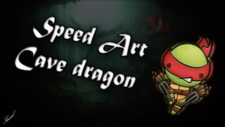 Speed Art Wallpaper Cave Dragons   Photoshop (by: Samuel)