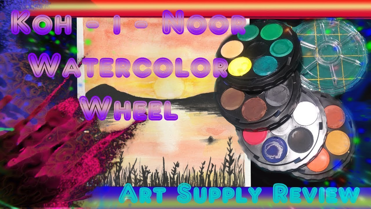 Art Supply Unboxing And Review 10 Koh I Noor Watercolor Wheel