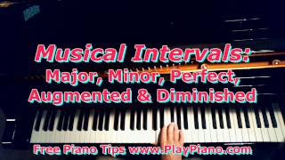 Types Of Intervals: Major, Minor, Perfect, Augmented & Diminished
