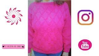 Blusa lã Mollet  de tricô Ponto Losango - parte 1