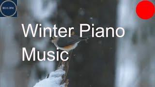 Peaceful Romantic Piano Music, Relaxing Winter Snow Falling
