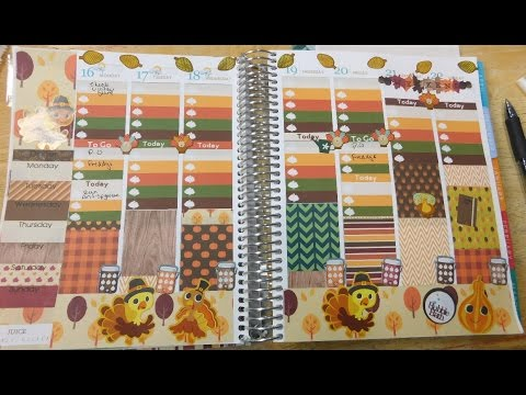 Plan with Me- Turkey & Blessings Theme