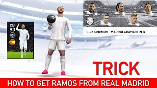 HOW TO GET RAMOS FROM REAL MADRID CLUB SELECTION | PES 2020 MOBILE