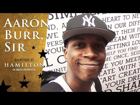 Episode 3 - Aaron Burr, Sir: Backstage at Broadway's HAMILTON with Leslie Odom Jr.
