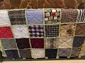 How To Sew A Rag Quilt With Dad's Old Clothes